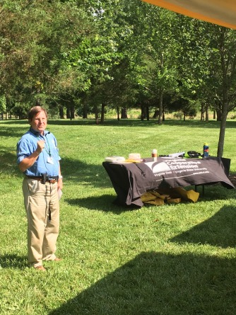 Jeff Schneider gives a talk on beneficial insects in your garden.