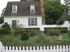 colonial style herb garden