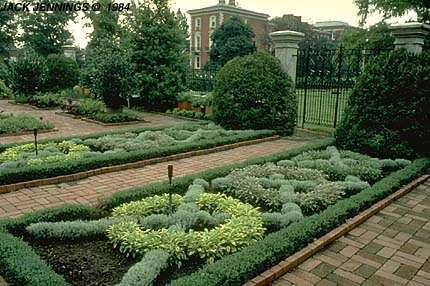 Formal knot herbal garden